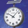 越谷レイクタウン駅南口 太陽電池電波時計設置